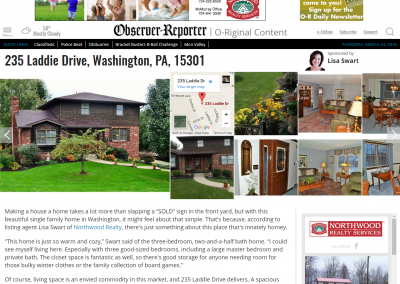 235 Laddie Drive  Washington  PA  15301 article