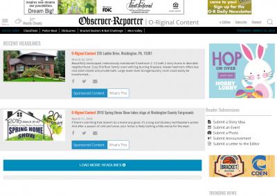 O Riginal Content   Observer Reporter