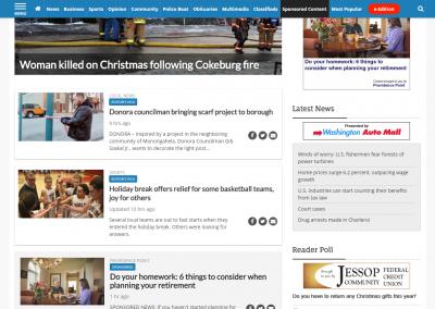Providence Point native 122717 screenshot - homepage